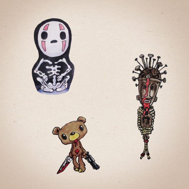 Scared of dolls Design